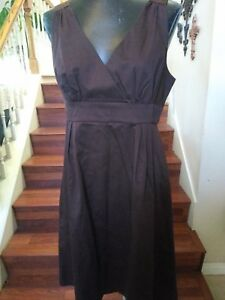 Massimo-from-Target-NWT-Women-039-s-Dress-Sleeveless-Brown-V-neck-Size-12-Casual