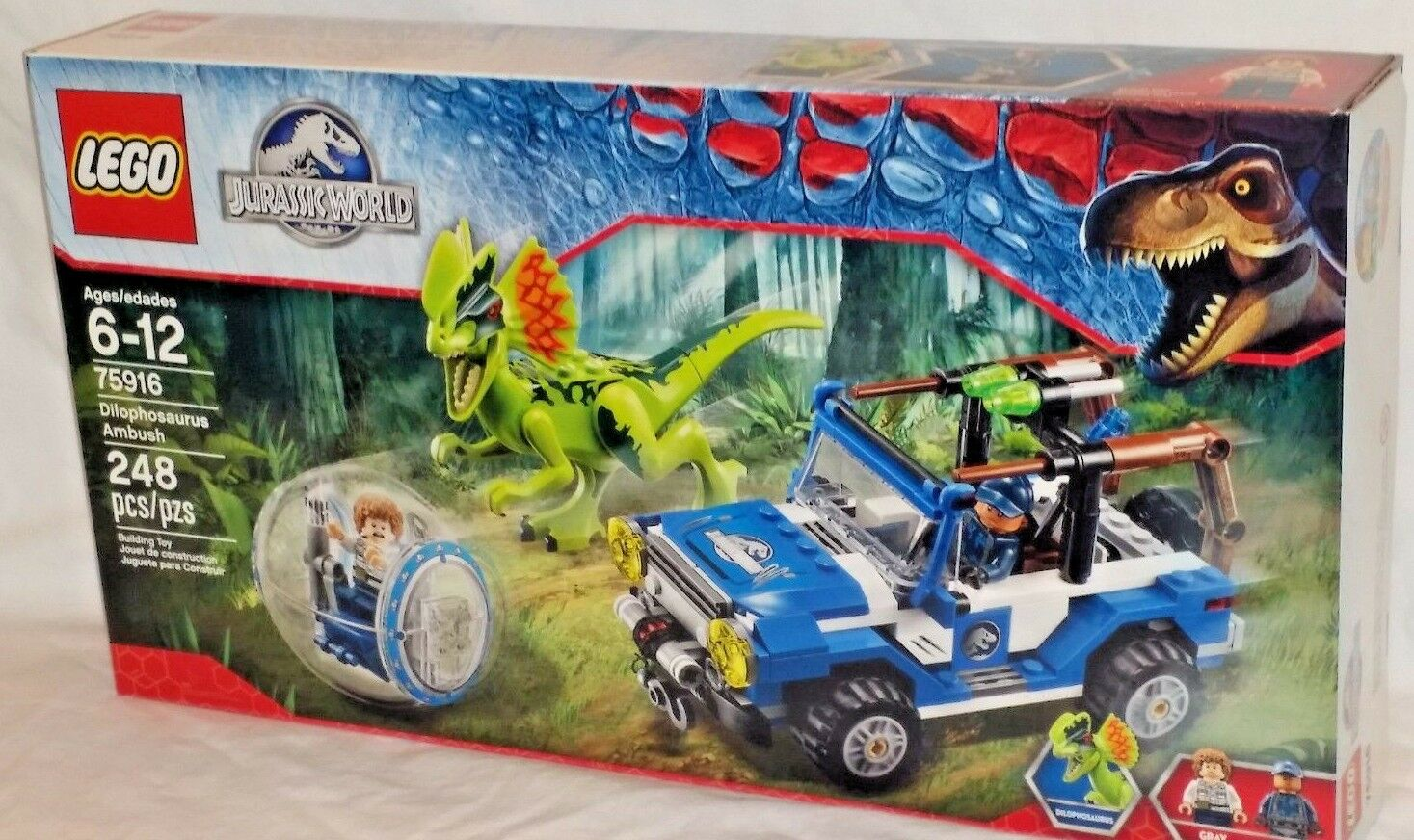 SEALED 75916 LEGO Jurassic World movie DILOPHOSAURUS AMBUSH 248 pc set RETIROT