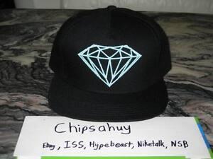 Diamond Supply Co Snapback Blue Diamond Dunk Black Hat Cap Rock USA ... e6f5d28f423