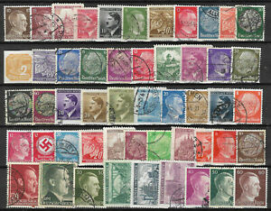 GERMANY-1933-1945-3rd-REICH-STAMP-COLLECTION-PACKET-50-DIFFERENT-Territories