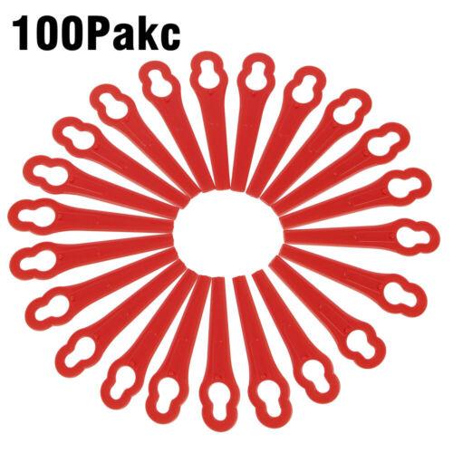 100x Ersatz Messer Klingen rot für Einhell Akku Rasentrimmer ART26Li ART26 ART23