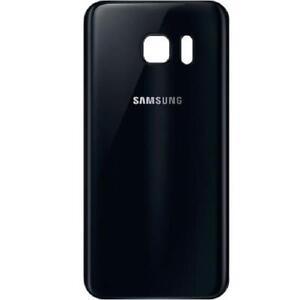 Coque Arriere Samsung Galaxy S 7 Edge - Noir - Adhesif Inclus