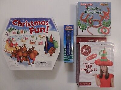 Ruldolf/'s Inflatable Ring Toss Fun Christmas Day Party Game Stocking Filler