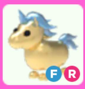 Golden Unicorn Fly Ride Adopt Me Roblox Ebay