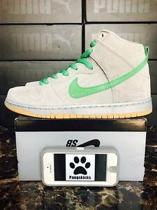 buy popular def3a cb3d0 Image is loading Nike-SB-Dunk-High-Premium-039-Silver-Box-