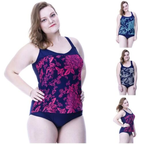 Bademode Swimwear Schwimmen Swimsuit Freizeit Oversize Damen Übergröße 2019