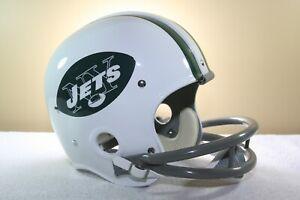 8291f6ac1 Vtg Riddell Style NEW YORK JETS Suspension RK Football Helmet JOE ...