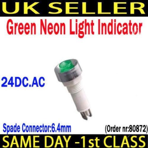 AUTO//FURGONE//progetto di rosso//verde neon luce//lampada spia 220VAC//24DC.AC