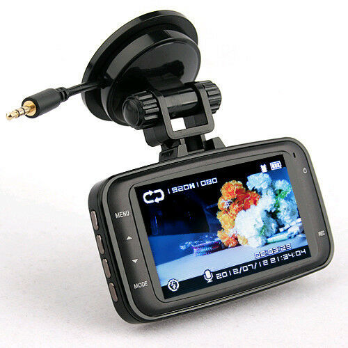 GS8000 1080P Full HD Vehicle In Car DVR Monitors Camera Black Box Cam GPS Track