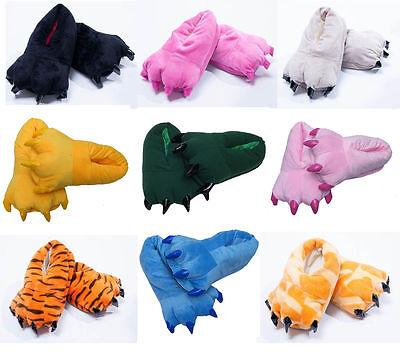 Unisex Slippers Kigurumi Pajamas Unisex Cosplay Animal Shoes Paw Claw 9 Colors