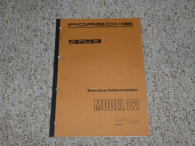 1982 Porsche 928 Original Shop Service Repair Workshop
