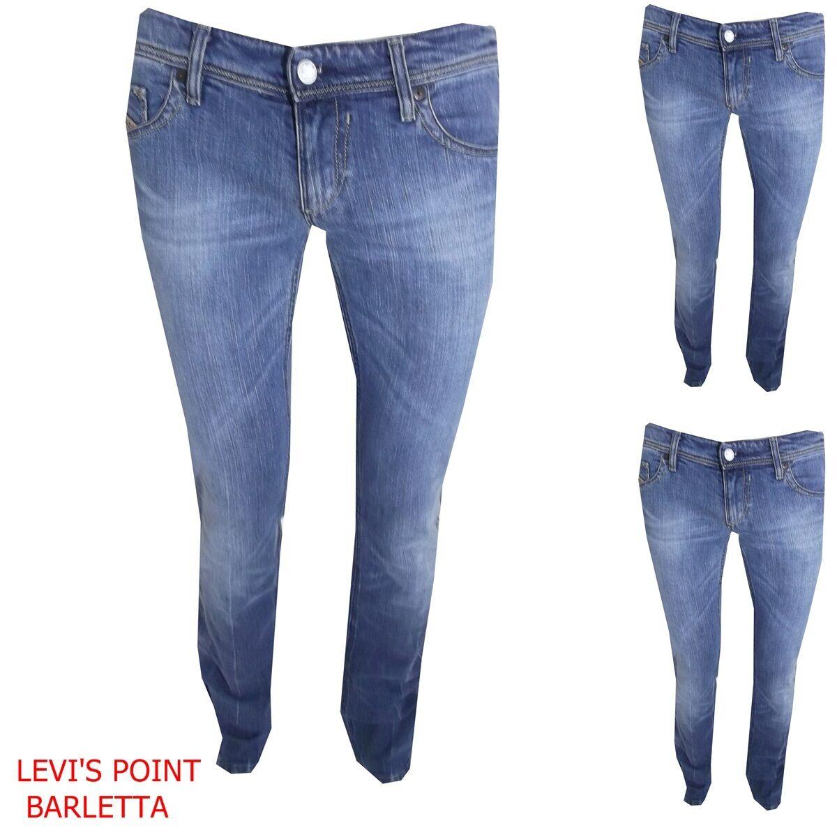Jeans diesel lowky stretch slim diritto azzurro taglia W 27 27 27 28 29 30 31 32 cd9068