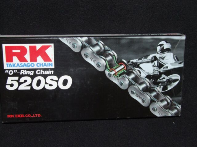 RK Chains 520 x 98 Links SO Series Oring Sealed Natural Drive Chain