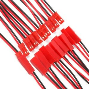 JST-Plug-and-Socket-connectors-Pre-Wired-Li-Po-battery-leads-2pin-Red-and-Black