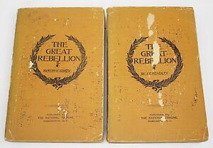 THE GREAT REBELLION by J.T. Headley 2 Volume Set 1898