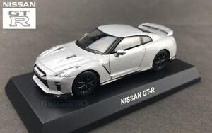 1-64-Kyosho-Nissan-Skyline-GT-R-GTR-35-R35-Diecast-Minicar-Matte-Silver