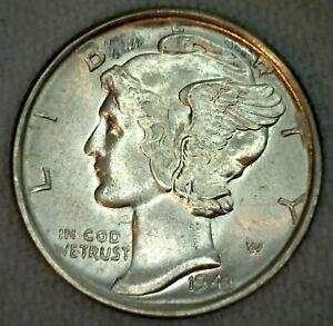 1943-S-Nous-Mercury-Dime-10c-Piece-de-Monnaie-Brilliant-Uncirculated