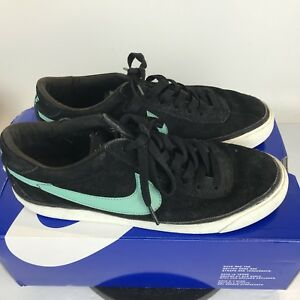 best service ad634 d093d Image is loading Nike-ZOOM-BRUIN-SB-Black-Mint-Suede-Shoes-