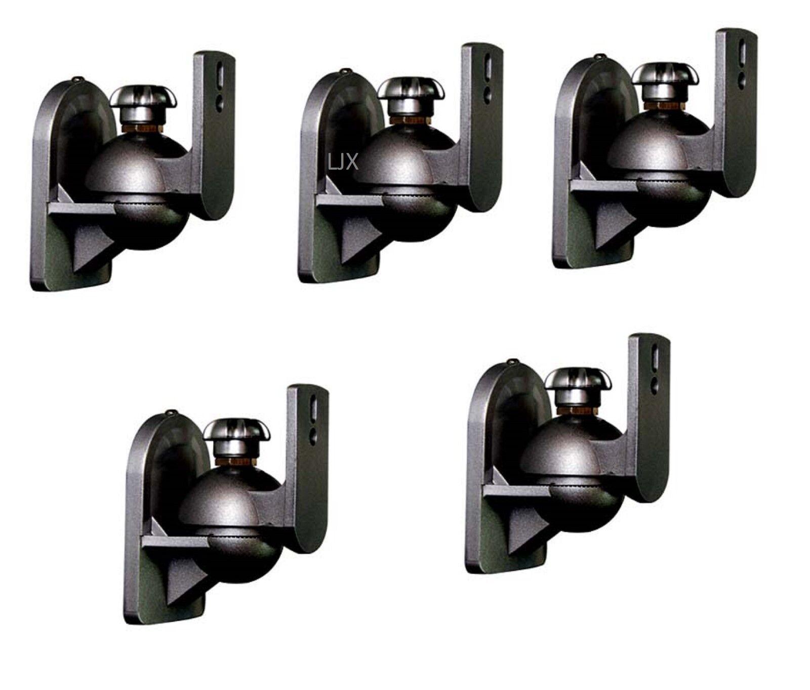 5 PCS Universal Satellite Speaker Black Wall Mount Brackets fits JVC Bose