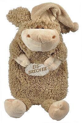 39330 Wärmflasche in 2 Farben Wollschäfchen Schaf mit Stick Eisbrecher 39329
