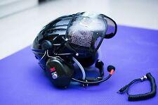 MX-02 PPG Helmet Visor Powered Paragliding Paramotor Headset GoPro Base Black