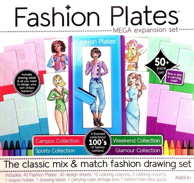 Kahootz Fashion Plates Mega Expansion Kit 213428 Ebay