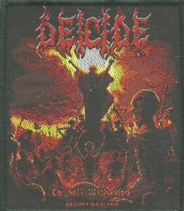 DEICIDE-to-hell-with-god-2011-WOVEN-SEW-ON-PATCH-official-merchandise