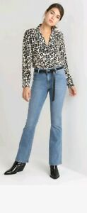 Womens-river-island-flare-high-rise-mid-authentic-Jean-039-s-size-12