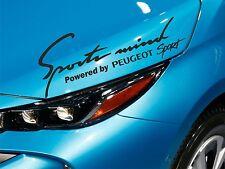 Sports Mind Sticker fits Peugeot 207 306 307 308 406 Decal Emblem Car Logo SM25