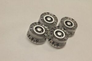SGM Silver Speed Knobs for Gibson Les Paul Guitar Volume Tone USA Seller