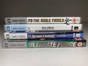 Bundle-Job-Lot-x4-Sony-PSP-UMD-Video-Boxed-THE-OFFICE-LEAGUE-OF-GENTLEMEN