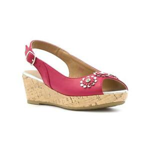 c2ab955e1b94 Image is loading Lilley-Girls-Pink-Flower-Wedge-Sandal-Sizes-10-