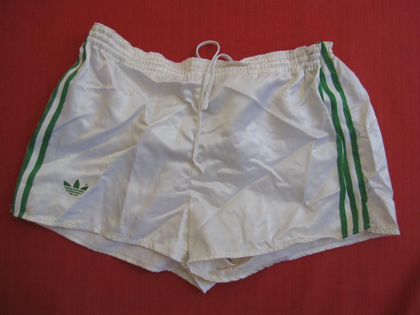 Short Adidas Ventex white Fc Nantes Vintage satin brillant nylon 80'S - 85