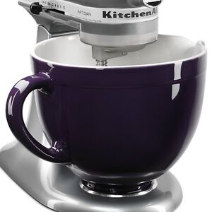 New Kitchenaid Ksmcb5rp 5 Qt Ceramic Mixing Bowl