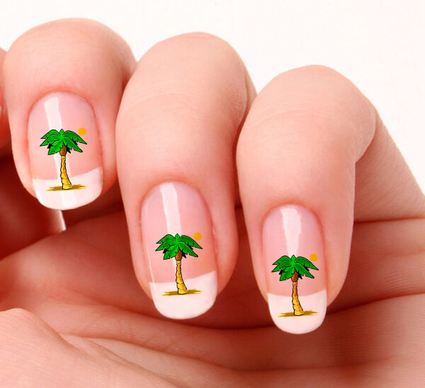 20 Nail Art Decals Transfers Stickers #289 - Palm Tree