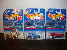 Hot Wheels--Lot Of 3--Rodzilla #991--1932 Ford #996--Jaguar D-Type #997--Lot #11
