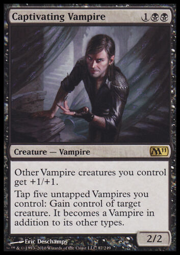 M11 MTG CAPTIVATING VAMPIRE EXC FOIL MAGIC VAMPIRO SEDUCENTE FOIL