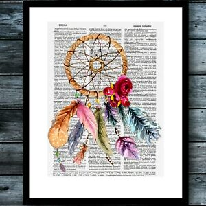 Rose Love Dictionary art book print Poster Vintage Wall Decor A010