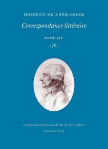 Grimm-Correspondance-litteraire-tome-8-1761