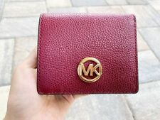 8a5956d31a79 item 4 Michael Kors Fulton Carryall Card Case Wallet Mulberry Burgundy  Leather -Michael Kors Fulton Carryall Card Case Wallet Mulberry Burgundy  Leather