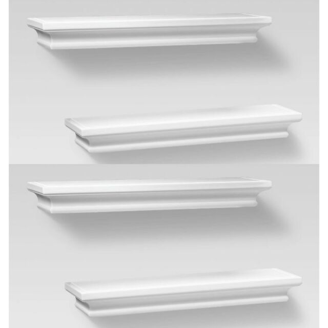 "4pc THRESHOLD Traditional Wall Shelf Set | 15.75"" x 4"" | White | 🆕"