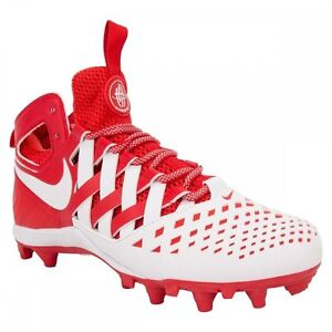 0de9bfbf86cf Men NIKE HUARACHE V 5 LAX Lacrosse Football Cleat 807142 611 WHITE ...