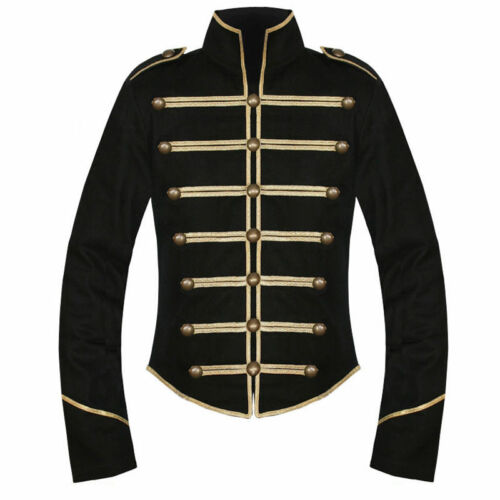 Black Gold My Chemical Romance Parade Military Jacket Halloween Cosplay Costume: