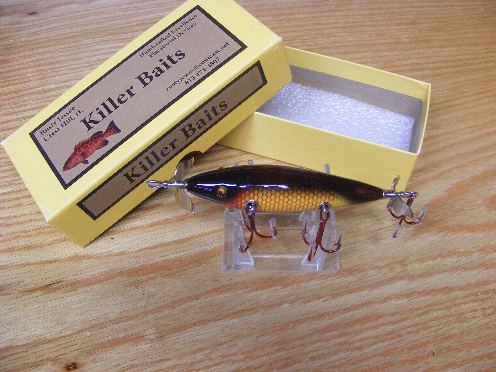 Killer Baits Rusty Jessee Heddon Little  Sac Style Glasseye 150 Deep bluee Yellow  manufacturers direct supply