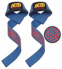 GYM WEIGHT BAR LIFTING STRAPS EXERCISE TRAINING FITNESS GYM STRAP WRAPS PRO-GRIP