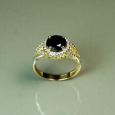 3.35gram 14k solid y/gold 1.50 carat natural Black Onyx nice wedding ring size 7