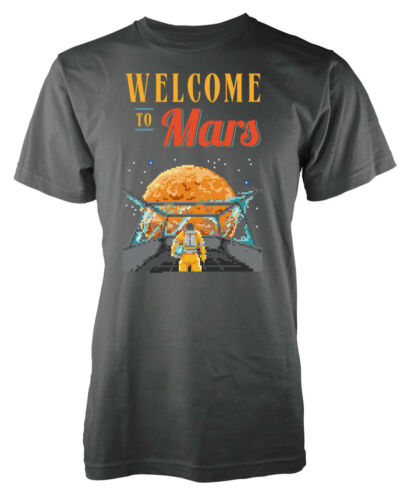 Retro 80s Blocky Welcome To Mars Kids T Shirt