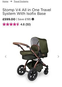 ickle bubba stomp v4All in One Travel System With Isofix Base