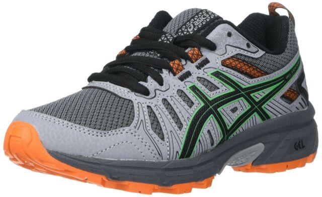 Big Girl's Size 2 ASICS Gel-venture 7 GS 1014A072 Running Shoes Gray