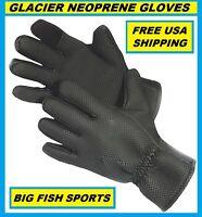 Glacier Glove Kenai Neoprene Gloves Size Large 015bk Free Usa Shipping
